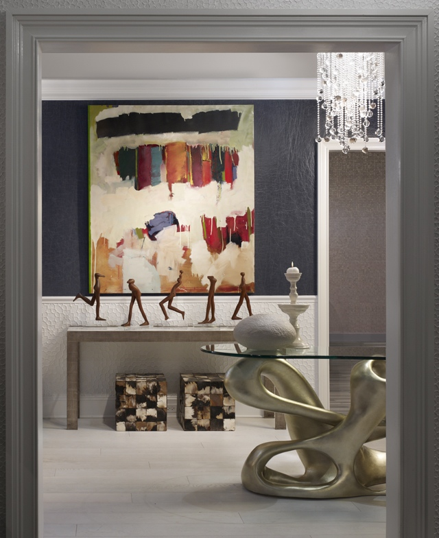 Julia Edelman included my work in her foyer vignette at DreamHome 2011 in the Merchandise Mart.