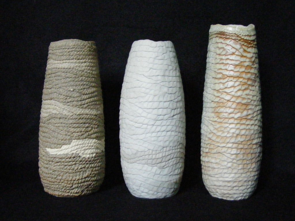 """117, 132, 133. Porcelain, stoneware, height  approx. 10"""""""