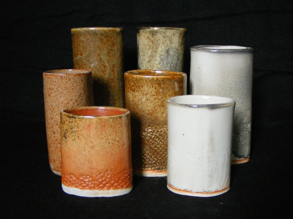 269. Shino-glazed porcelain, misc. sizes